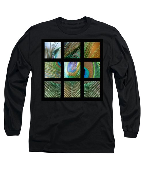 Peacock Feather Mosaic Long Sleeve T-Shirt
