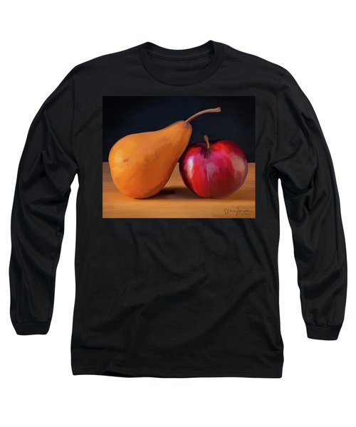 Pear And Plum 01 Long Sleeve T-Shirt by Wally Hampton