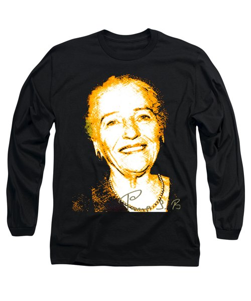 Long Sleeve T-Shirt featuring the digital art Pearl Buck by Asok Mukhopadhyay