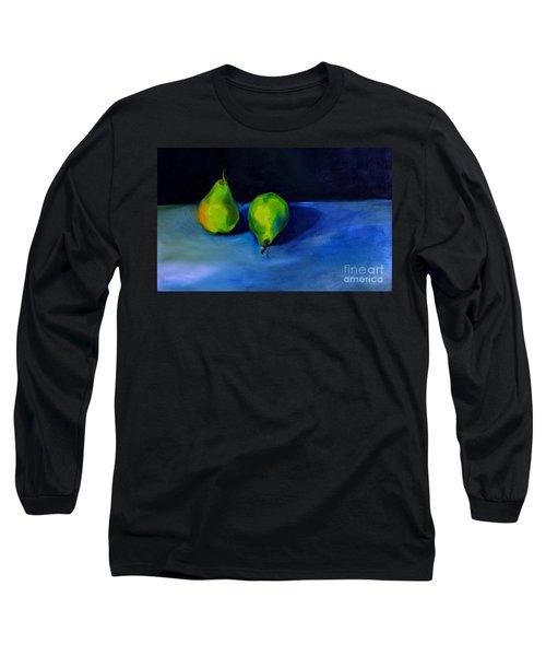 Pears Space Between Long Sleeve T-Shirt by Daun Soden-Greene
