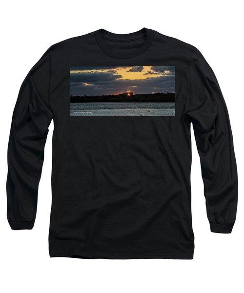 Peeking Between The Condos Long Sleeve T-Shirt by Nance Larson
