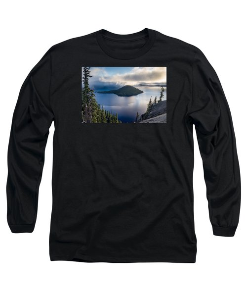 Peering At The Wizard Long Sleeve T-Shirt by Greg Nyquist