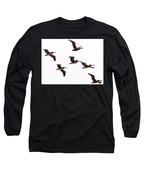 Pelicans At Half Moon Bay Long Sleeve T-Shirt
