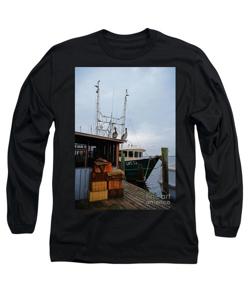 Pelicans Looking For Lunch Long Sleeve T-Shirt