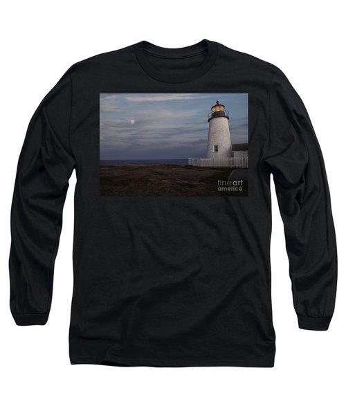 Pemaquid And Full Moon Long Sleeve T-Shirt