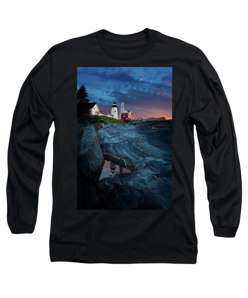 Pemaquid Lighthouse At Dawn Long Sleeve T-Shirt