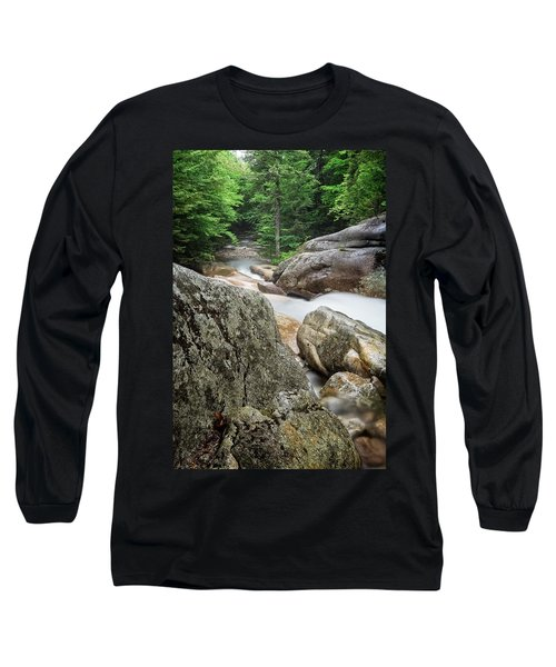 Long Sleeve T-Shirt featuring the photograph Pemi Above Basin by Michael Hubley