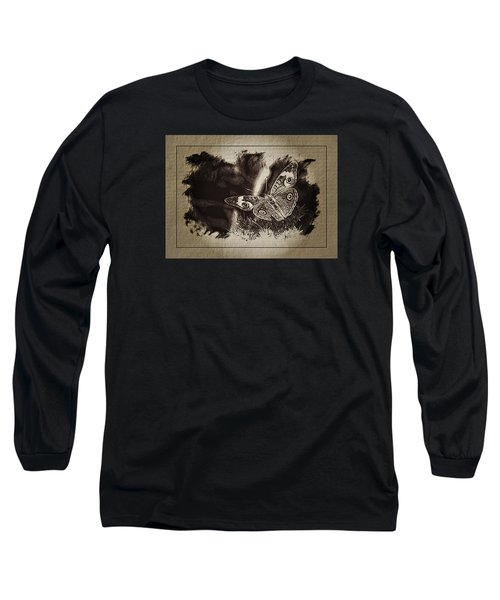 Pen And Ink Fall Butterfly Long Sleeve T-Shirt