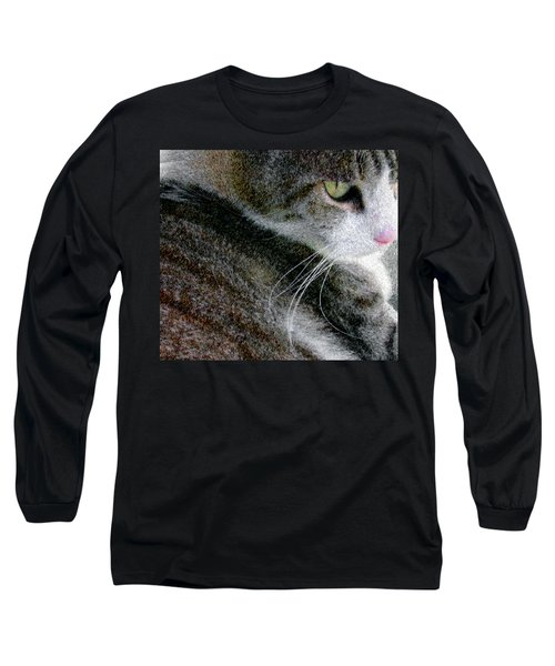 Pensive Long Sleeve T-Shirt by Chuck Mountain