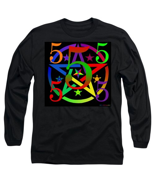 Penta Pentacle In Black Long Sleeve T-Shirt