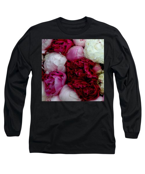 Peony Bouquet Long Sleeve T-Shirt
