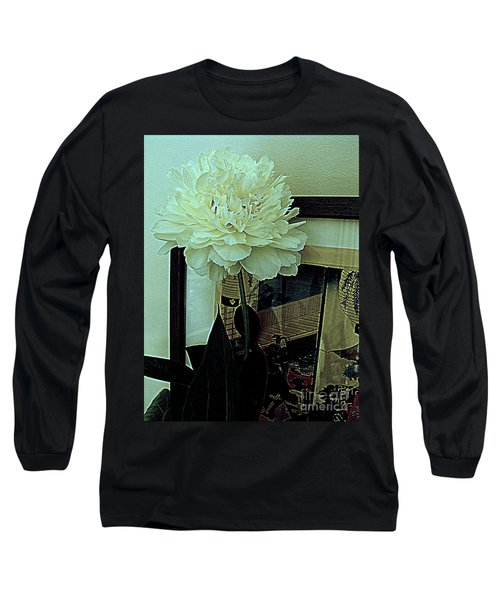 Long Sleeve T-Shirt featuring the photograph Peony Pose by Nancy Kane Chapman