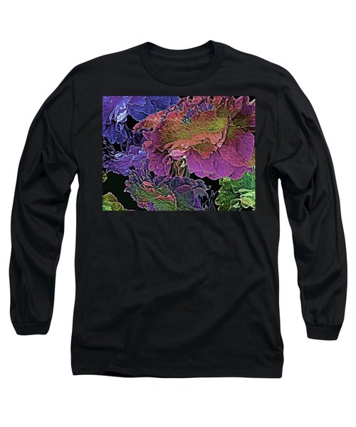 Peony Profusion 104 Long Sleeve T-Shirt by Lynda Lehmann