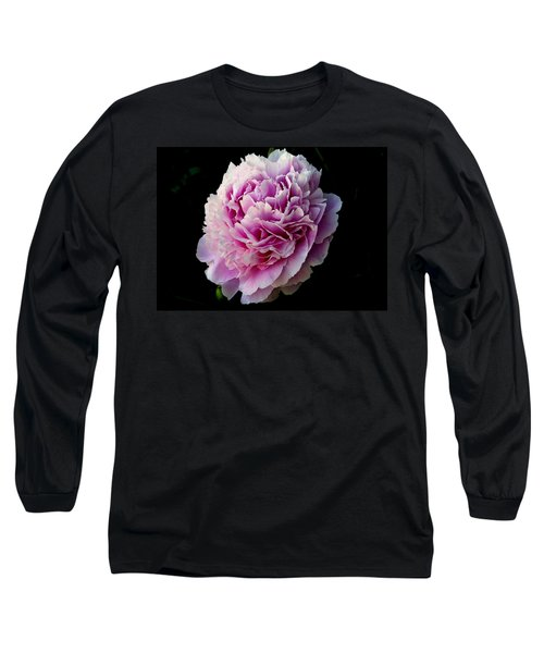 Long Sleeve T-Shirt featuring the photograph Peony by Rhonda McDougall