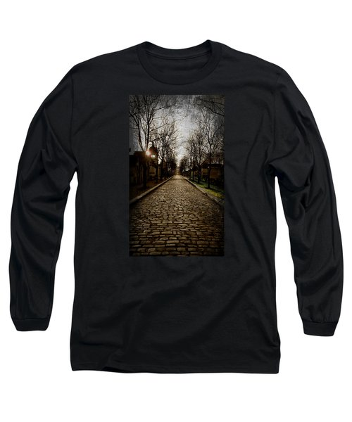 Long Sleeve T-Shirt featuring the photograph Pere Lachaise Cemetery Road 2 by Katie Wing Vigil
