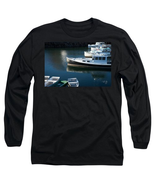 Perkins Cove Lobster Boats One Long Sleeve T-Shirt