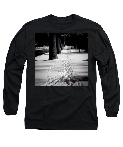 Pet Prints In The Snow Long Sleeve T-Shirt