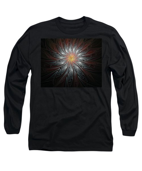 Petals In Pewter Long Sleeve T-Shirt