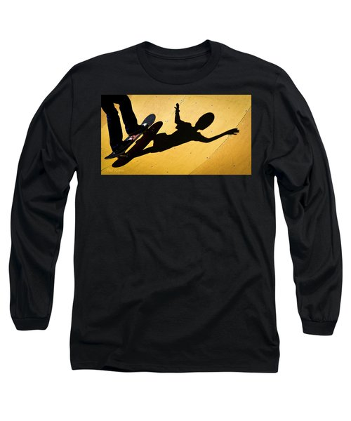 Peter Pan Skate Boarding Long Sleeve T-Shirt
