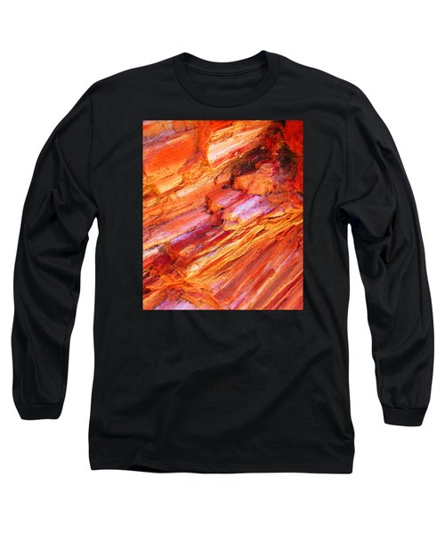 Petrified Abstraction No 1 Long Sleeve T-Shirt by Andreas Thust