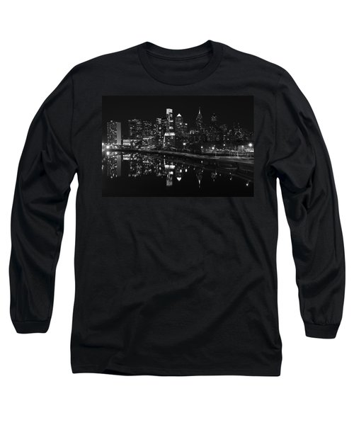 Philly And The Schuylkill Bw Long Sleeve T-Shirt
