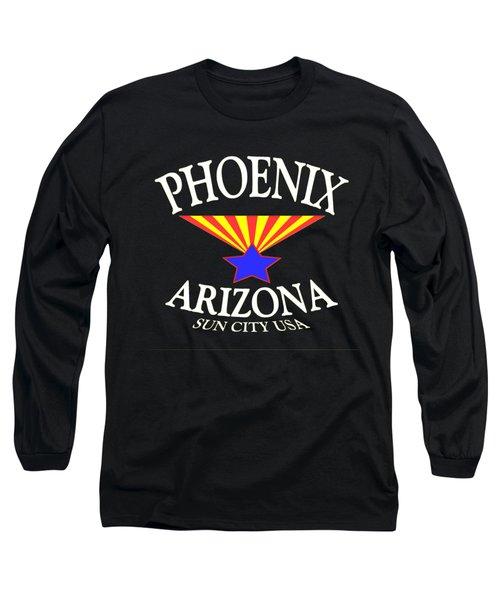 Phoenix Arizona Tshirt Design Long Sleeve T-Shirt by Art America Gallery Peter Potter