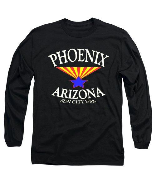Phoenix Arizona Design - Sun City U. S. A Long Sleeve T-Shirt
