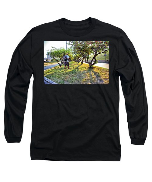 Long Sleeve T-Shirt featuring the photograph Photographer by Brian Wallace