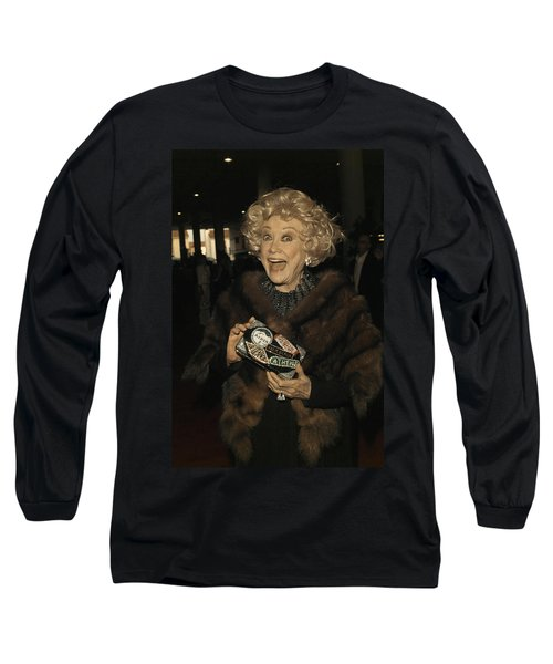 Phyllis Diller Long Sleeve T-Shirt by Nina Prommer