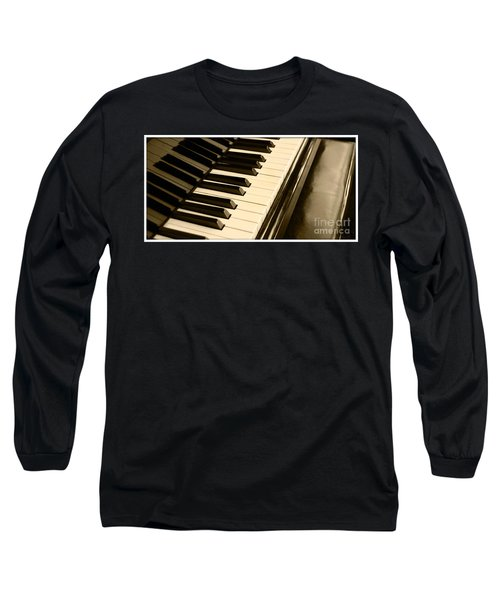 Piano Long Sleeve T-Shirt by Charuhas Images