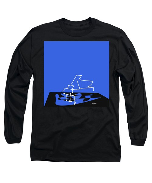 Long Sleeve T-Shirt featuring the digital art Piano In Blue by Jazz DaBri