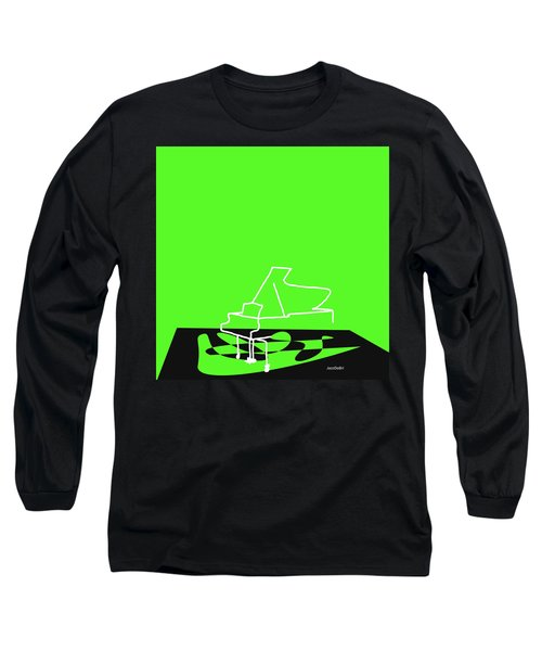 Piano In Green Long Sleeve T-Shirt