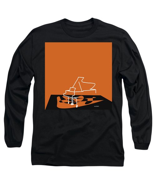 Long Sleeve T-Shirt featuring the digital art Piano In Orange by Jazz DaBri