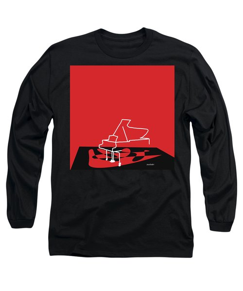 Long Sleeve T-Shirt featuring the digital art Piano In Red by Jazz DaBri