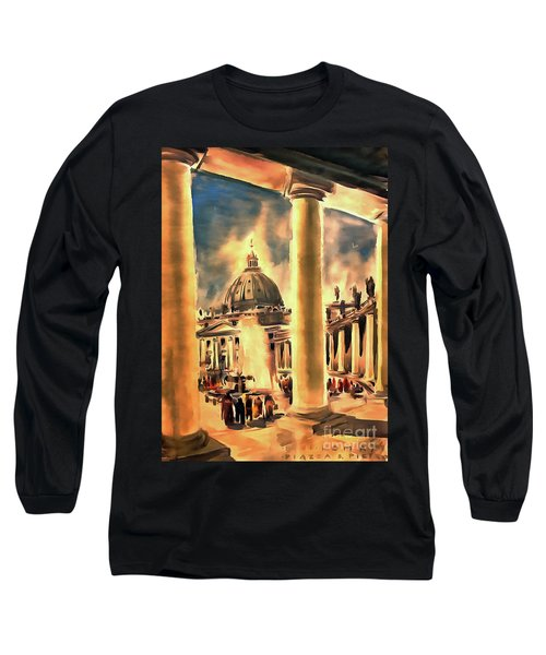 Piazza San Pietro In Roma Italy Long Sleeve T-Shirt