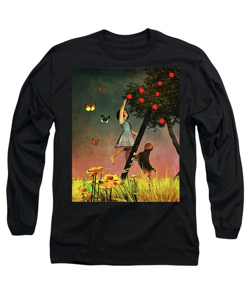 Picking Apples Together Long Sleeve T-Shirt