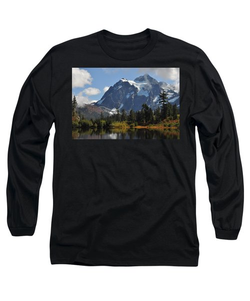 Picture Lake And Mount Shuksan Long Sleeve T-Shirt