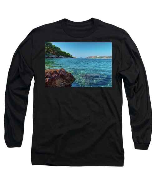 Picturesque Croatia Offers Tourists Pristine Beaches Of The Adriatic, Surrounded By Pine Trees And R Long Sleeve T-Shirt