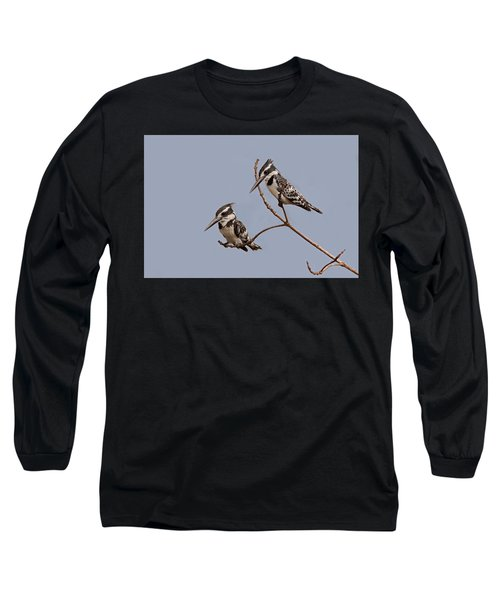 Pied Kingfisher Pair Long Sleeve T-Shirt