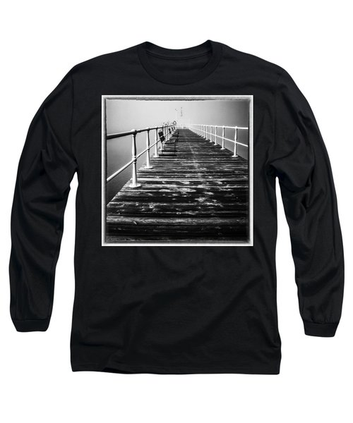 Pier At Pooley Bridge On Ullswater In The Lake District Long Sleeve T-Shirt