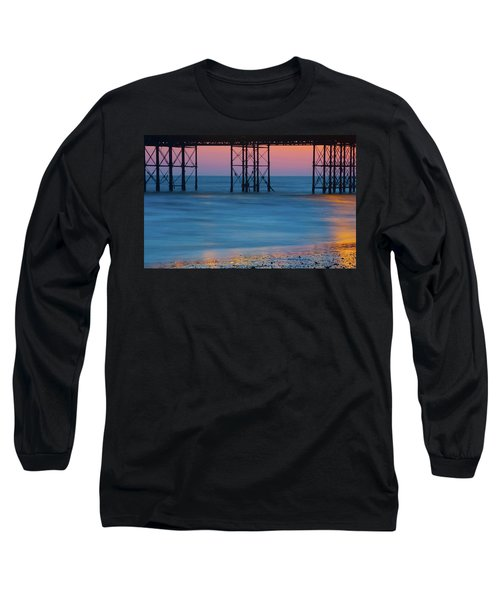 Pier Supports At Sunset I Long Sleeve T-Shirt