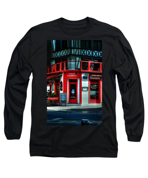 Long Sleeve T-Shirt featuring the photograph Pierre Champion Rouen France by Tom Prendergast