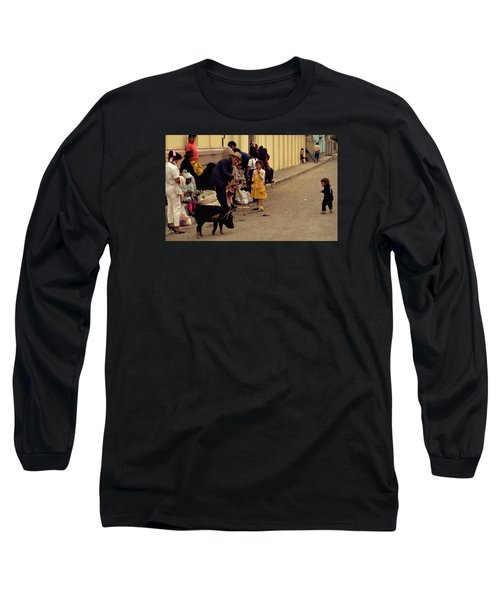 Long Sleeve T-Shirt featuring the photograph Piggy Went To Market by Travel Pics