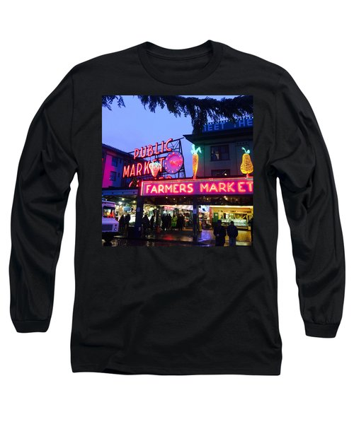 Pike Place Market Long Sleeve T-Shirt by Anthony Grayson