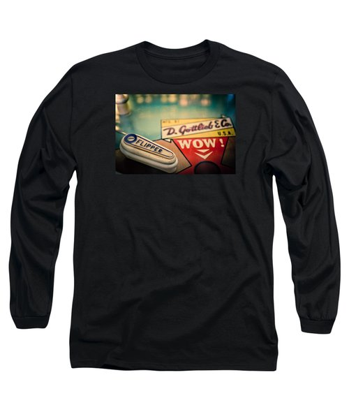 Pinball - Wow Long Sleeve T-Shirt by Colleen Kammerer