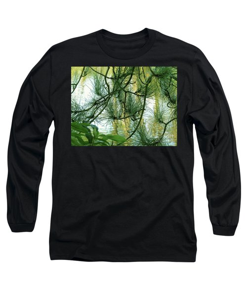 Pine Needles Patchwork Long Sleeve T-Shirt
