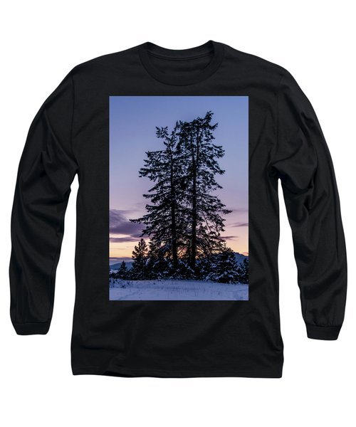 Pine Tree Silhouette    Long Sleeve T-Shirt