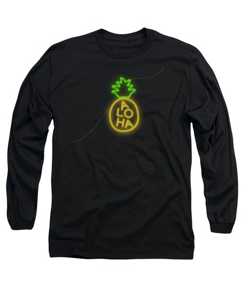 Pineapple Aloha Neon Style Long Sleeve T-Shirt