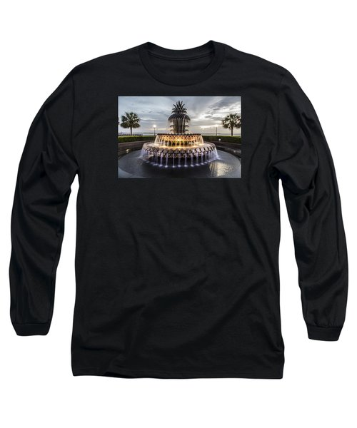 Pineapple Fountain Charleston Sc Long Sleeve T-Shirt