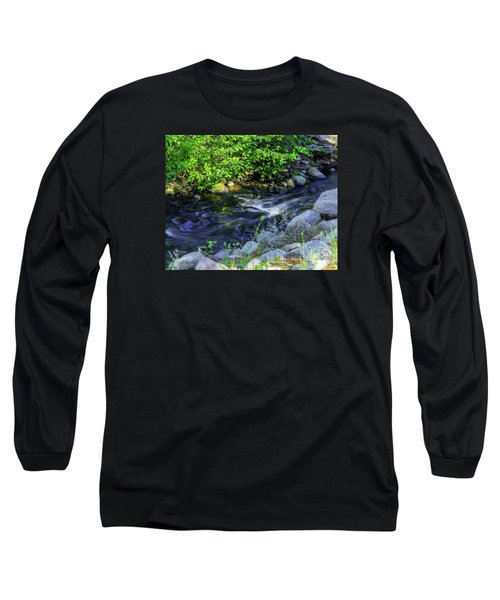 Long Sleeve T-Shirt featuring the photograph Pinecones Sage And Slow Moving Water by Nancy Marie Ricketts